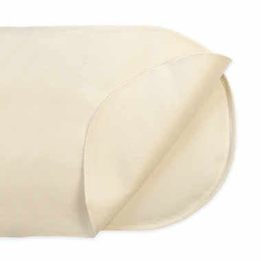 Bassinet Flat Oval Waterproof Organic Cotton Protector Pad by Naturepedic
