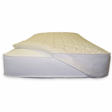 Naturepedic Quilted Organic Fitted Crib Mattress Topper in