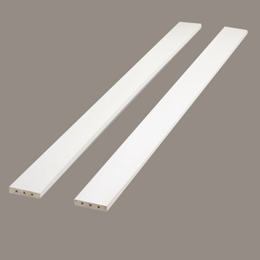 French White Full Size Bed Rails by Sorelle - Click to enlarge