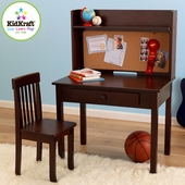 Espresso Pinboard Desk and Chair Set by KidKraft