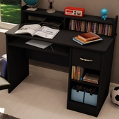 Solid Black Axess Small Desk by SouthShore