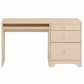 White Single Pedestal Desk by Canwood