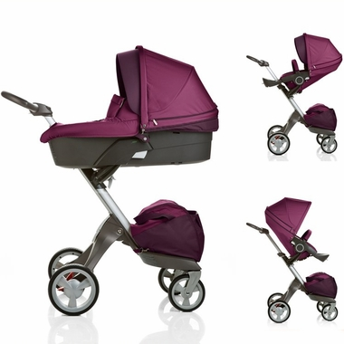 Purple Xplory Carry Cot Stroller Complete by Stokke - Click to enlarge