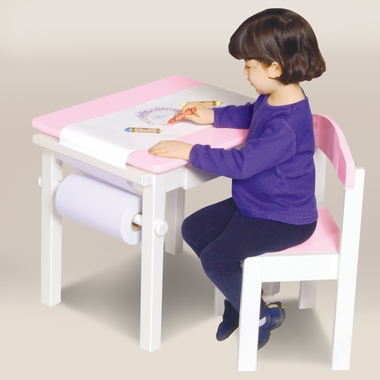 Pink Guidecraft Art Table & Chair Set by GuideCraft - Click to enlarge