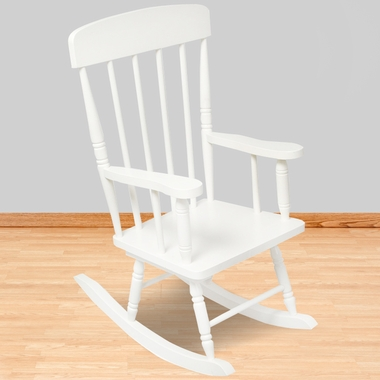Spindle Rocking Chair White 18301 by KidKraft - Kids Tables & Chairs ...
