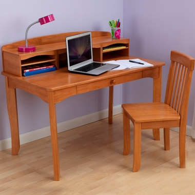 Honey Avalon Desk with Hutch by KidKraft - Click to enlarge