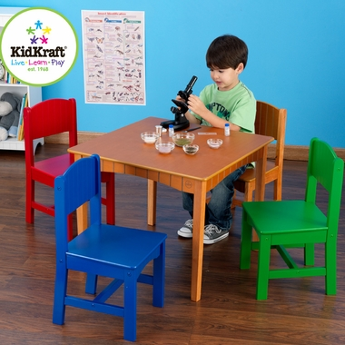 Primary Nantucket Childs Table & Chair Set by KidKraft - Click to enlarge