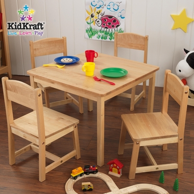 Farmhouse Table and 4 Chairs Set by KidKraft