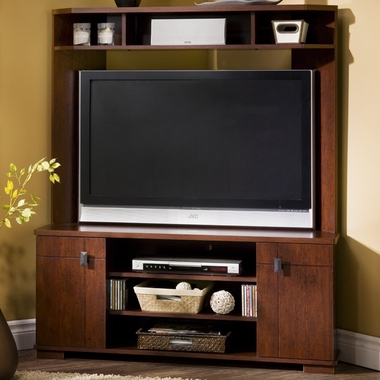 Classic Cherry Vertex Corner TV Stand by SouthShore