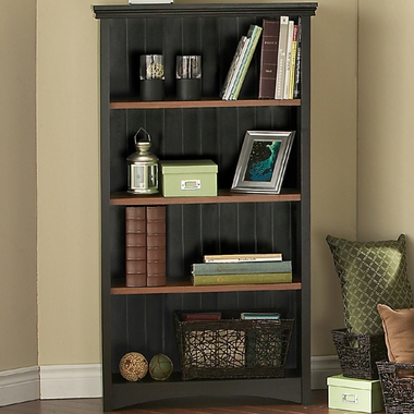 Ebony & Spice wood Gascony Four Shelf Bookcase by SouthShore - Click to enlarge