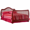 Monza I Fixed Side Convertible Sleigh Crib In Cherry 04587