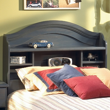 Blueberry Provincetown Twin Bookcase Headboard by SouthShore