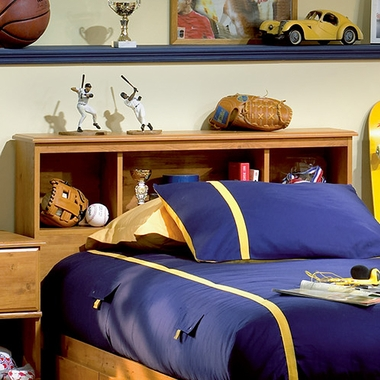 Country Pine Little Treasures Bookcase Headboard by SouthShore