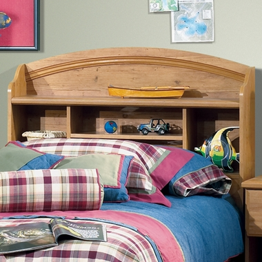 Country Pine Roslindale Mates Twin Bookcase Headboard by SouthShore