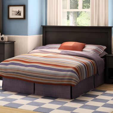 Pure Black Fusion Queen Mates Bed by SouthShore - Click to enlarge
