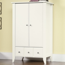 Matte White Shoal Creek Armoire By Child Craft