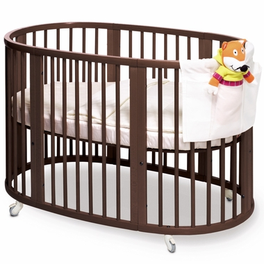 Walnut Sleepi Crib with Mattress by Stokke - Click to enlarge