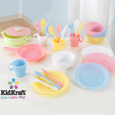 Pastel 27 pc Cookware Playset by KidKraft - Click to enlarge