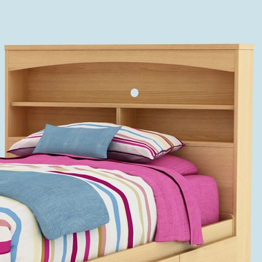 Natural Maple Step One Bookcase Headboard by SouthShore