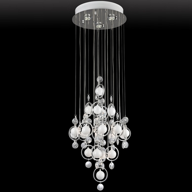 Bubbles Crystal Small Ceiling Lamp by Lite Source