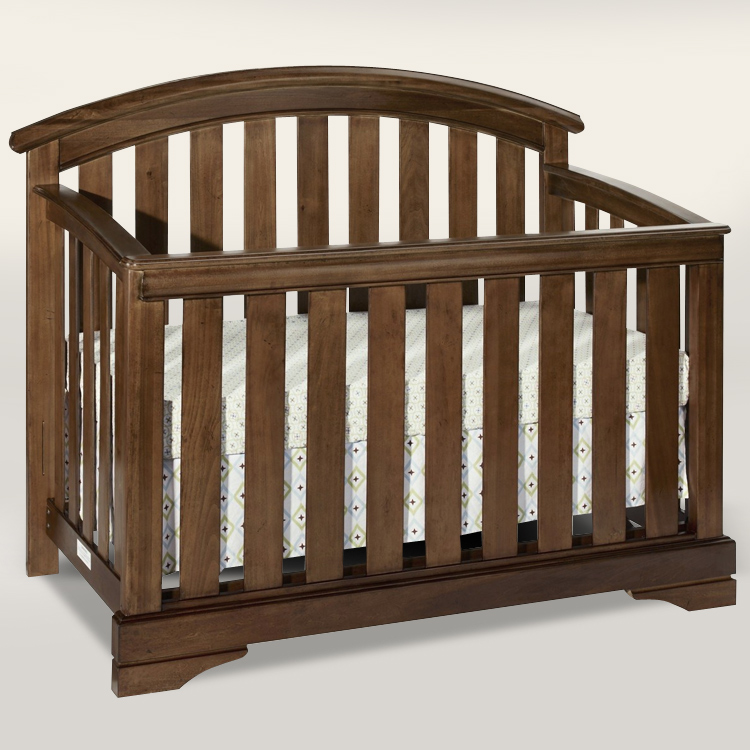 Chocolate Mist Waverly Convertible Crib (Toddler Guard Rail Included) by Westwood Design
