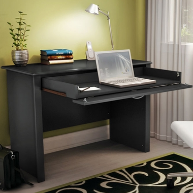 SouthShore Secretary Desk in Solid Black - Click to enlarge
