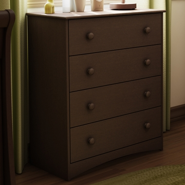Espresso Angel 4 Drawer Chest by SouthShore