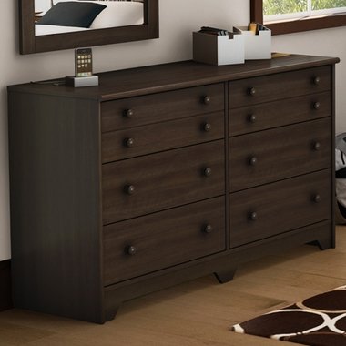 Moka Popular 6 Drawer Double Dresser by SouthShore - Click to enlarge