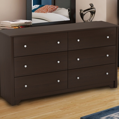 Chocolate Fusion 6 Drawer Dresser by SouthShore - Click to enlarge