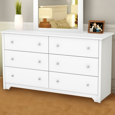 Pure White Fusion 6 Drawer Dresser by SouthShore - Click to enlarge