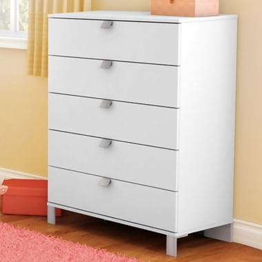 Pure White Karma 5 Drawer Chest by SouthShore - Click to enlarge