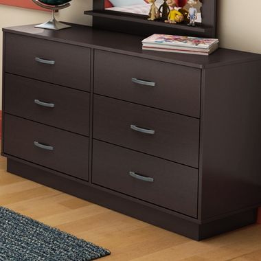 Chocolate Litchi 6 Drawer Dresser by SouthShore - Click to enlarge