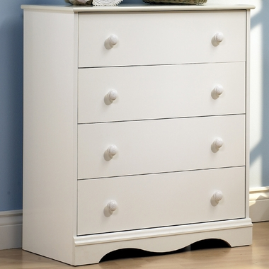 Pure White Andover 4 Drawer Dresser by SouthShore