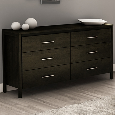 Ebony Gravity 6 Drawer Double Dresser by SouthShore