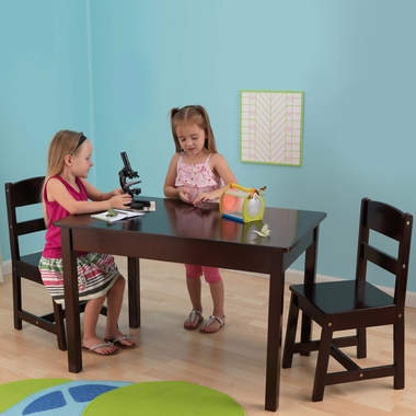 Espresso Rectangle Table & Chair Set by KidKraft - Click to enlarge