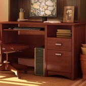 Cherry Gascony Small Desk by SouthShore