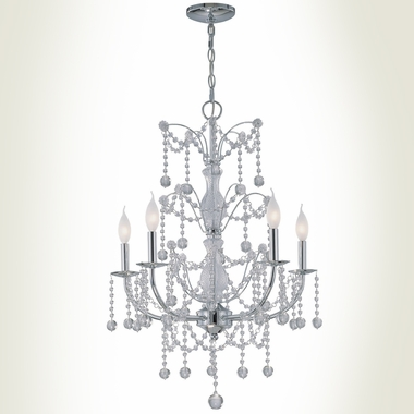 Crysilda 5-Lite Chandelier Lamp by Lite Source