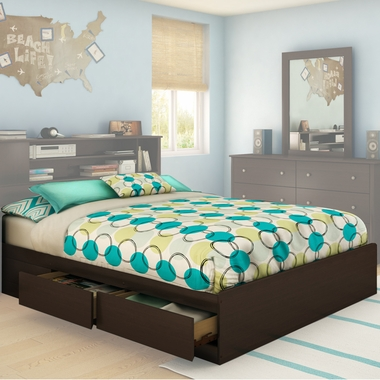 Chocolate Fusion Queen Mates Bed by SouthShore - Click to enlarge