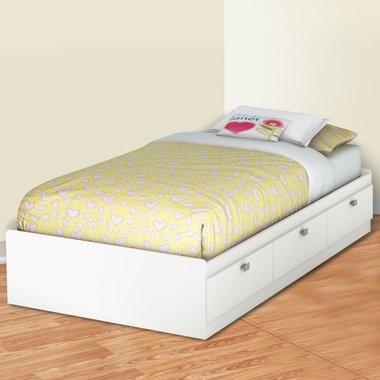 Pure White Karma Twin Mates Bed by SouthShore - Click to enlarge