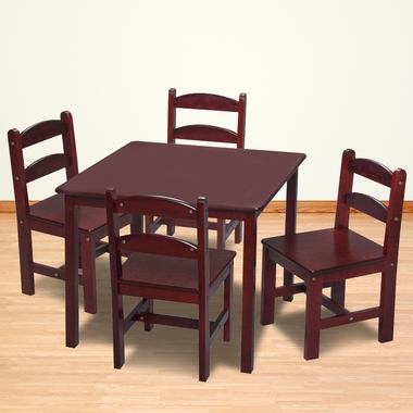 Cherry Square Table with 4 Chairs by Kids Korner - Click to enlarge