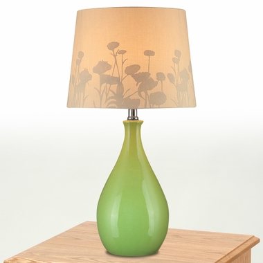Edaline Table Lamp in Green by Lite Source - Click to enlarge