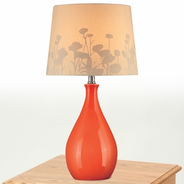 Edaline Table Lamp in Orange by Lite Source - Click to enlarge