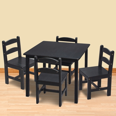 Espresso Square Table with 4 Chairs by Kids Korner - Click to enlarge
