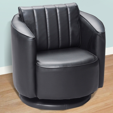 Black Upholstered Swivel Chair by Kids Korner - Click to enlarge