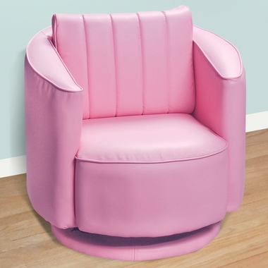 Pink Upholstered Swivel Chair by Kids Korner - Click to enlarge