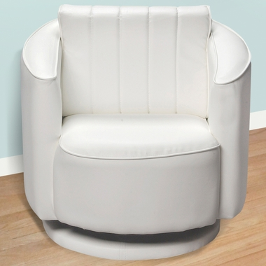 White Upholstered Swivel Chair by Kids Korner - Click to enlarge
