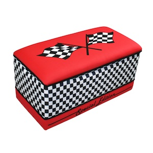 Red Race Cars Toy Box by Magical Harmony Kids - Click to enlarge