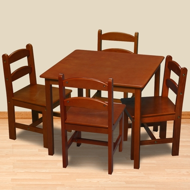 Honey Square Table with 4 Chairs by Kids Korner - Click to enlarge