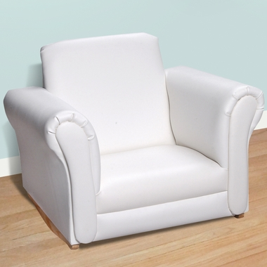 White Upholstered Rocking Chair by Kids Korner - Click to enlarge