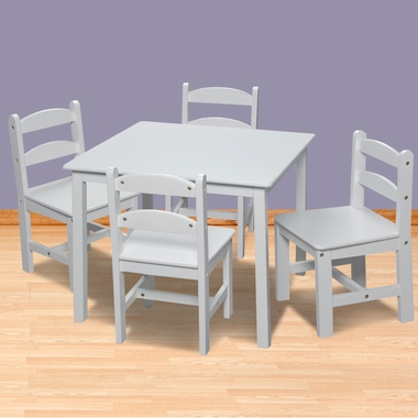 White Square Table with 4 Chairs by Kids Korner - Click to enlarge